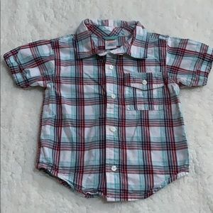 Gymboree plaid button down